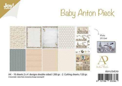 Joy!Crafts Joy! Crafts Papierset - Anton Pieck - Design Baby 10vl 6011/0670 A4