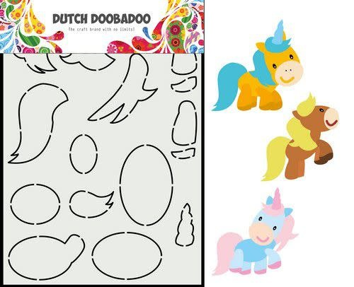 Dutch Doobadoo Dutch Doobadoo Dutch Card Art Built up Paard A5