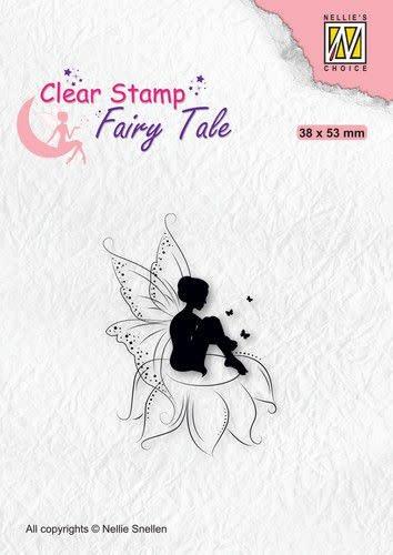 Nellie's choice Nellie's Choice Clearstamp silhouette Fairy Tale FTCS020