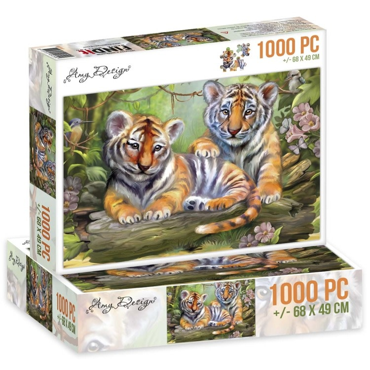 Find it Jigsaw puzzel 1000 pc - Amy Design -Tigers
