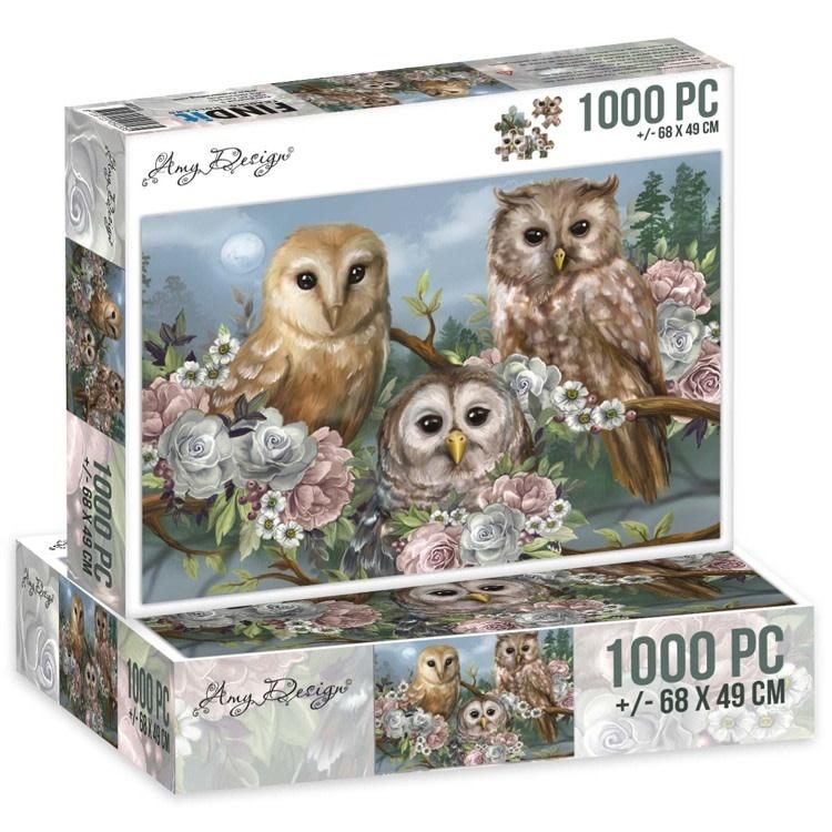 Find it Jigsaw puzzel 1000 pc - Amy Design - Romantic Owls