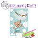Dotty Designs Dotty Designs Diamonds Cards - Blue Baby Bear