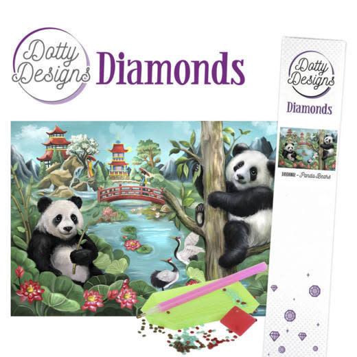 Dotty Designs Dotty Designs Diamonds - Panda Bears