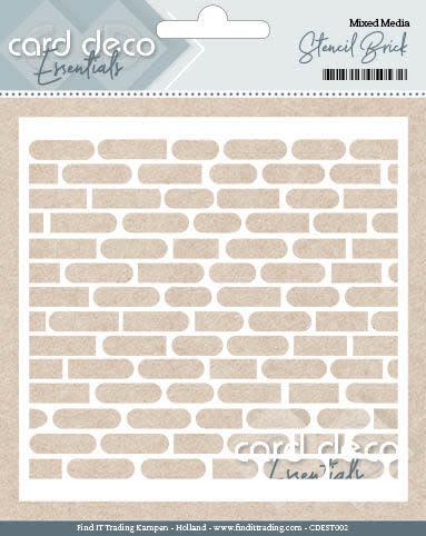 Card deco Card Deco Essentials - Stencil Brick