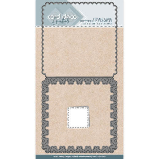 Card deco Card Deco Essentials - Cutting Dies - Butterfly Frame 4K
