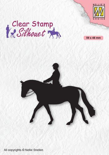 Nellie's choice Nellies Choice Clearstempel - Silhouette Ruiter
