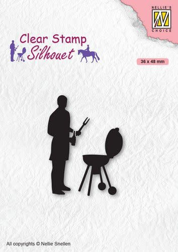 Nellie's choice Nellies Choice Clearstempel - Silhouette Barbecue