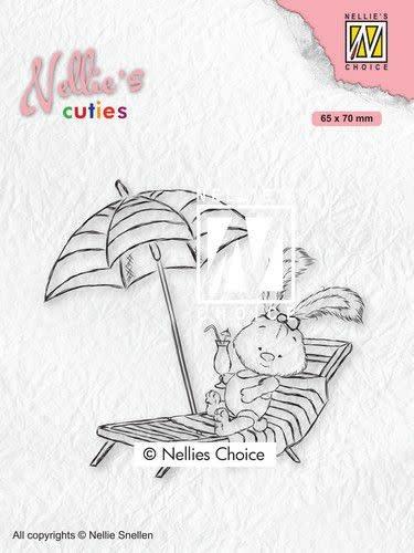 Nellie's choice Nellies Choice Clearstempel - Cuties Lena op vakantie