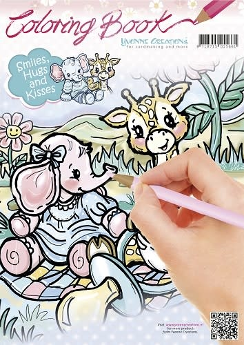 Yvonne creations Colorbook - Yvonne Creations - Smiles, Hugs and Kisses