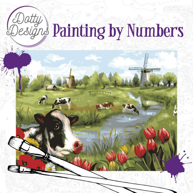 Dotty Designs Dotty Design Painting by Numbers hollans landschap