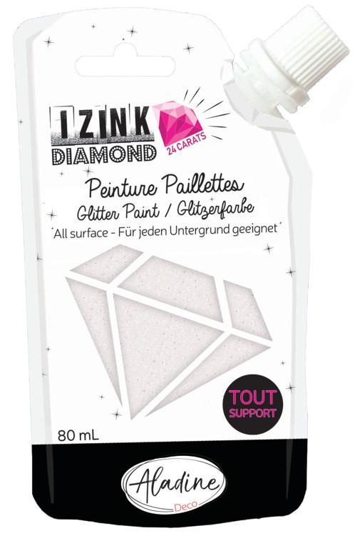 Aladine IZINK Diamond glitterverf/pasta 24 karaat- 80 ml, parelmoer