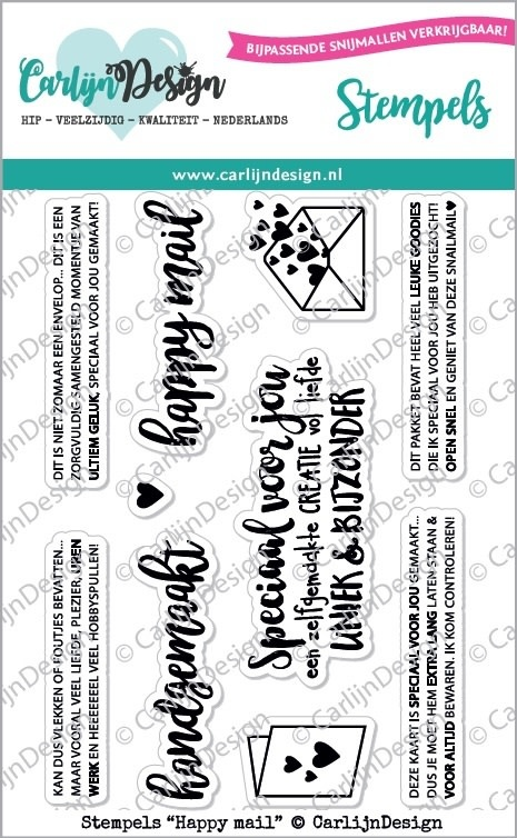 Carlijn Design CarlijnDesign Stempels Happy Mail