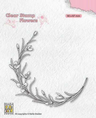 Nellie's choice Nellie's Choice Clear stamps Flowers - Bloeiend takje