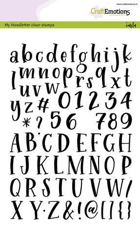 CraftEmotions CraftEmotions clearstamps A5 - handletter - alfabet typewriter
