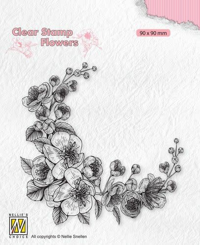Nellie's choice Nellie's Choice Clear stamps Flowers - Bloesem hoekje