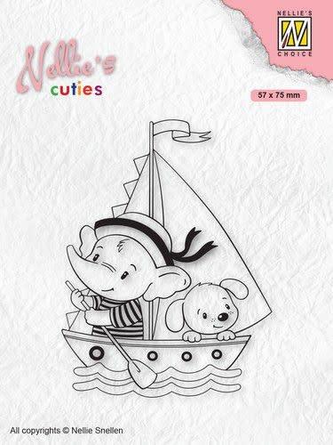 Nellie's choice Nellies Choice Clearstempel - Cuties Jonge zeilers
