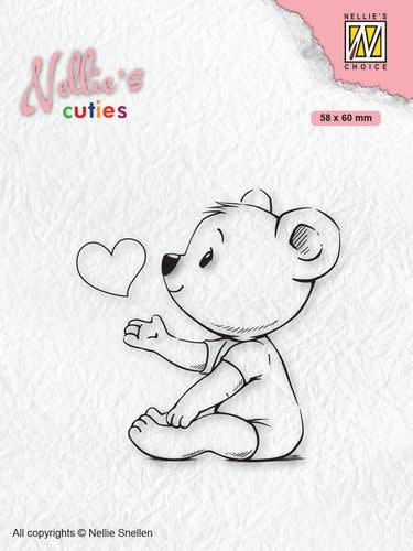 Nellie's choice Nellies Choice Clearstempel - Cuties Love you mama