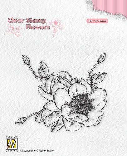 Nellie's choice Nellie's Choice Clear stamps Flowers - Magnolia