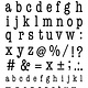 CraftEmotions CraftEmotions clearstamps A6 - alfabet typewriter kleine letters