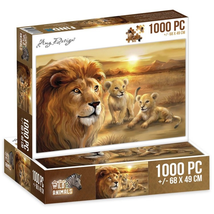 Find it Puzzel 1000 pc - Amy Design - Wild Animals - Lion with cubs