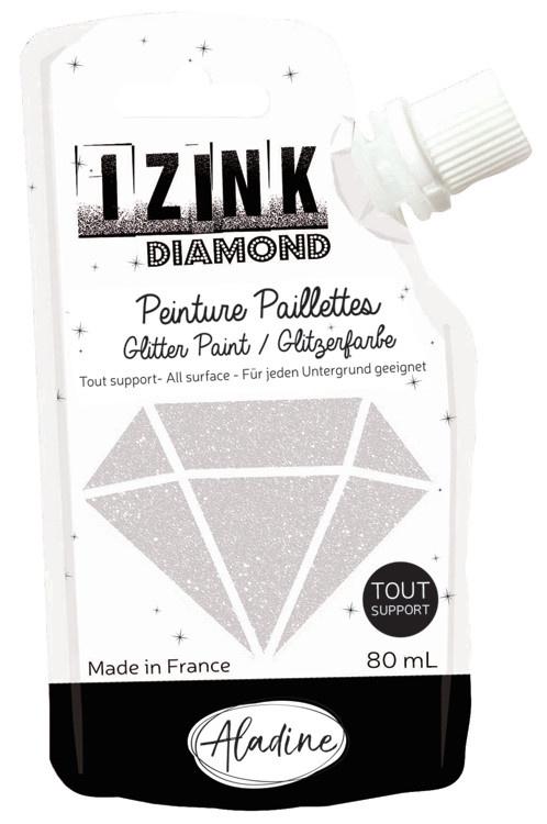 Aladine IZINK Diamond glitterverf/pasta - 80 ml, parelmoer