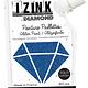 Aladine IZINK Diamond glitterverf/pasta - 80 ml, marineblauw