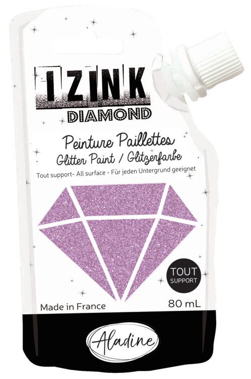 Aladine IZINK Diamond glitterverf/pasta - 80 ml, roze