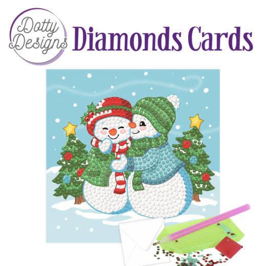 Dotty Designs Dotty Designs Diamonds Cards - Two Snowmen
