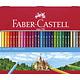 kleurpotlood Faber-Castell Castle zeskantig metalen etui met 36 stuks