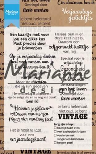 Marianne D Marianne D Clear Stamp Verjaardagsgedichtjes (NL)
