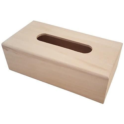 CraftEmotions Houten tissue box
