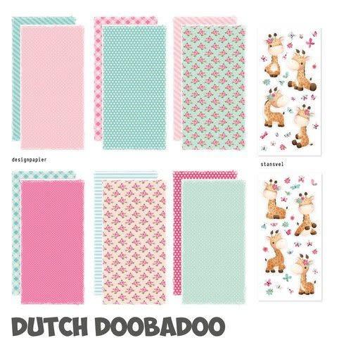 Dutch Doobadoo Dutch Doobadoo Crafty Kit Slimline Giraffe