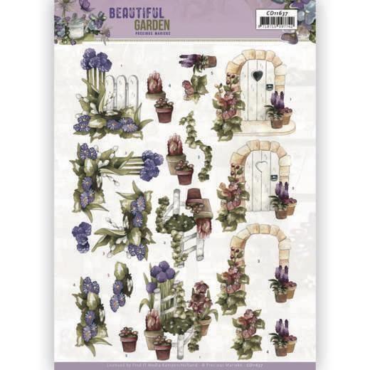 precious Marieke 3D Cutting Sheet - Precious Marieke - Beautiful Garden - Allium