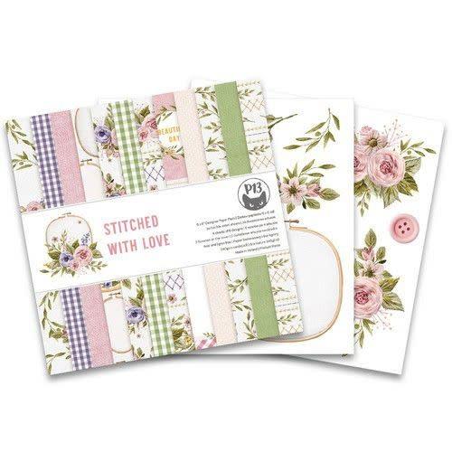 Piatek 13 Piatek13 - Paper pad Stitched with love, 6x6''