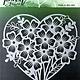 Picket fence Picket Fence Studios Heart of Flowers Stencil (SC-123)