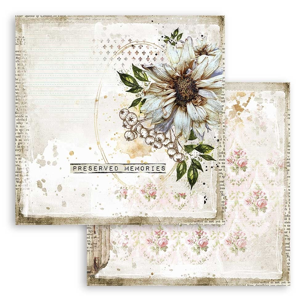 Stamperia Stamperia Romantic Journal 12x12 Inch Paper Pack (SBBL86)