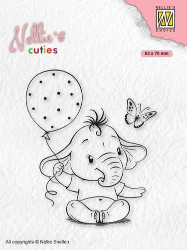 Nellie's choice Nellies Choice Clearstempel - Cuties Baby olifant NCCS007
