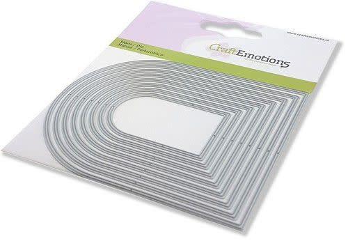 CraftEmotions CraftEmotions Die - randen toog Card 11x9cm