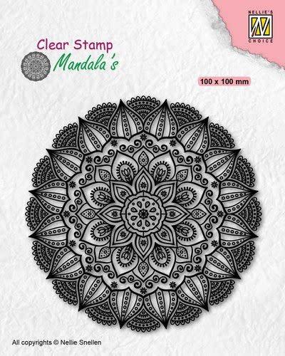 Nellie's choice Nellies Choice Clearstamp Mandala - Dahlia bloem CSMAN007