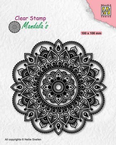 Nellie's choice Nellies Choice Clearstamp Mandala - Bloemen CSMAN005