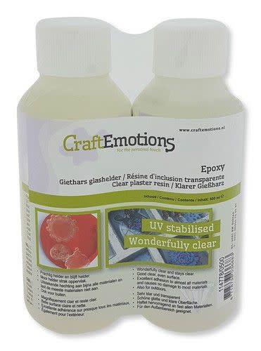 CraftEmotions CraftEmotions Epoxy Giethars glashelder 500 ML