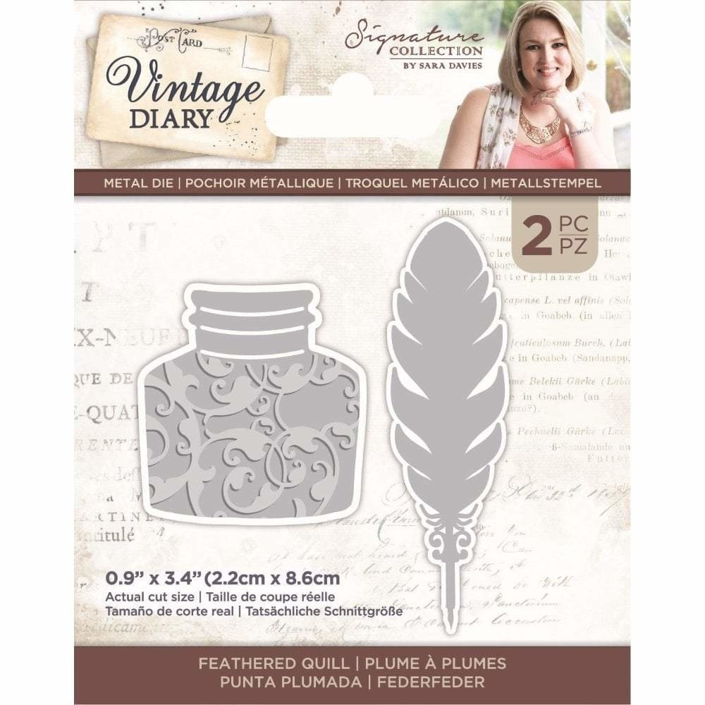 Crafter's Companion Crafter's Companion Vintage Diary Feathered Quill Dies (S-VD-MD-FEQUIL)