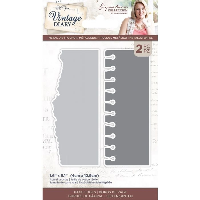 Crafter's Companion Crafter's Companion Vintage Diary Page Edges Dies (S-VD-MD-PAED)