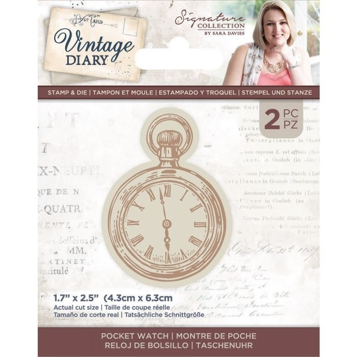 Crafter's Companion Crafter's Companion Vintage Diary Pocket Watch Stamp & Die (S-VD-STD-POCKW)
