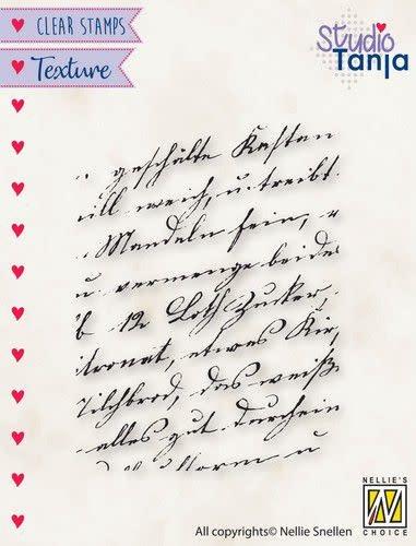 Nellie's choice Nellies Choice Clearstamp - Texture - Geschreven tekst TXCS021