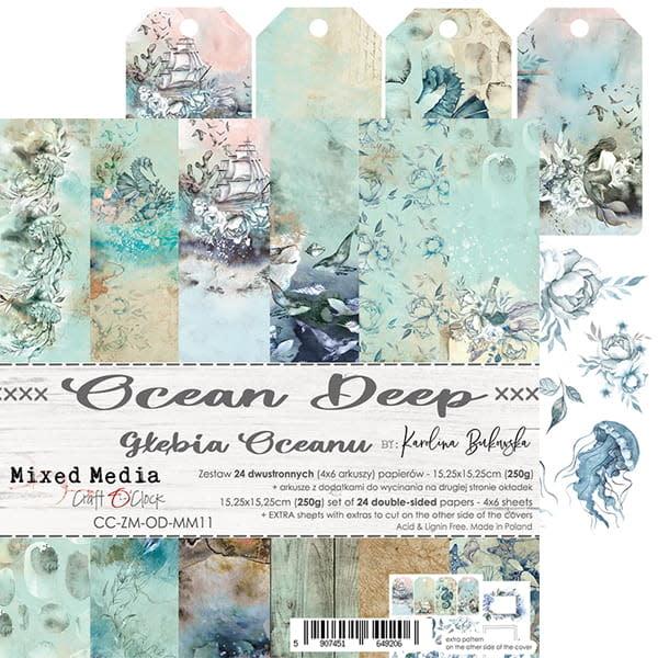 craftoclock ocean deep 15.2x15.2 paperpad