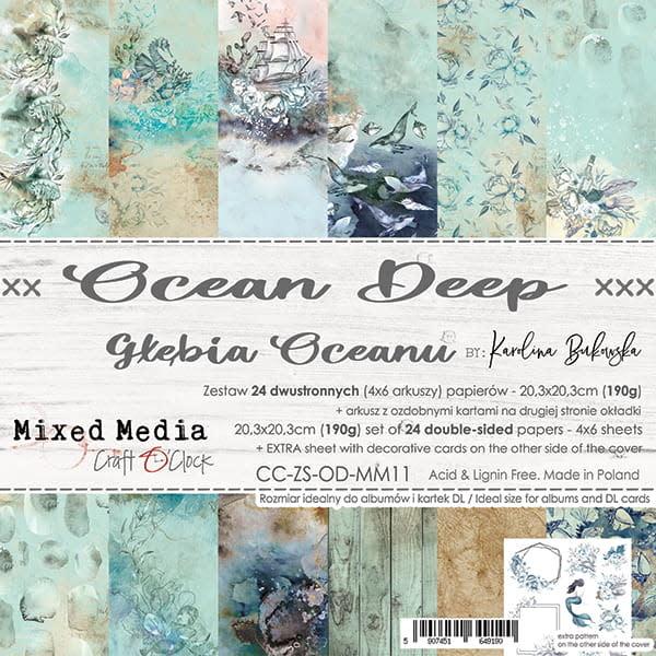 craftoclock ocean deep 20.3x20.3 paperpad