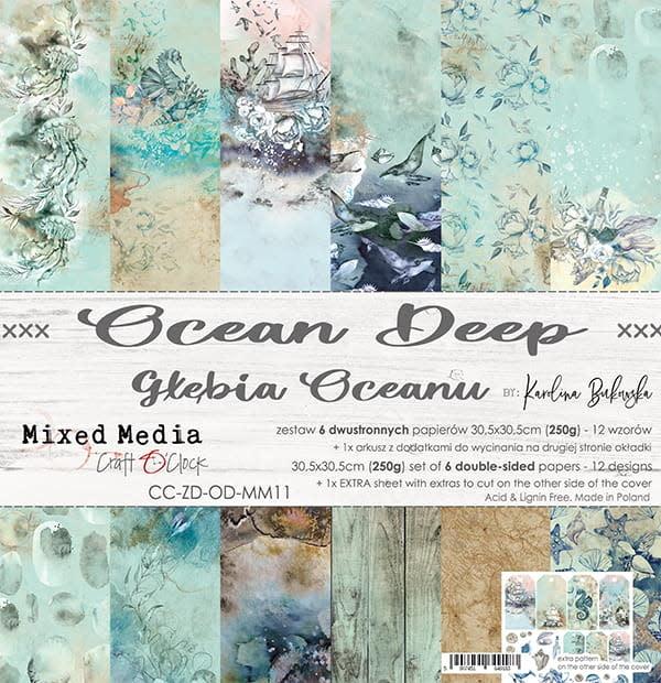 craftoclock ocean deep 30.5x30.5 paperpad