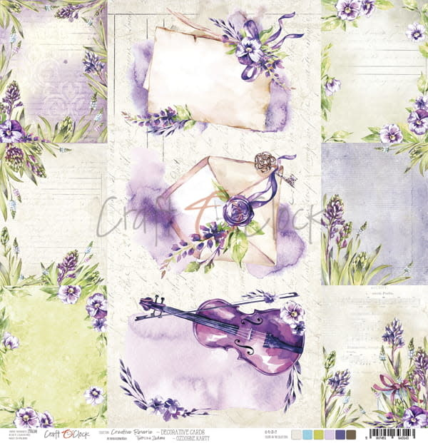 craftoclock creative reverie sheet with deco cards