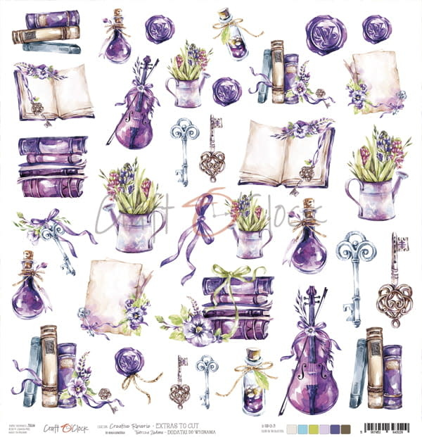 craftoclock creative reverie sheet of extras to cut